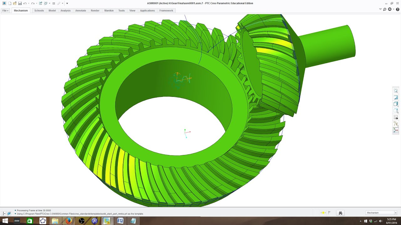 How to Model Involute Spiral Bevel Gear in PTC Creo - Gleason System Part 1
