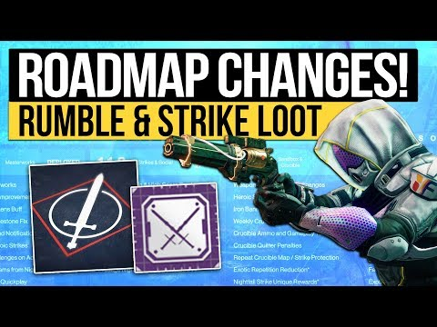 Destiny 2 News | ROADMAP CHANGES! Rumble Pushed Forward, Feature Update, Strike Reward & Mods Delay!