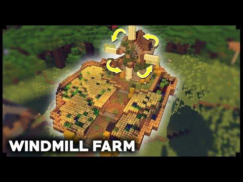 CARA MEMBUAT WINDMILL FARM - Minecraft Tutorial