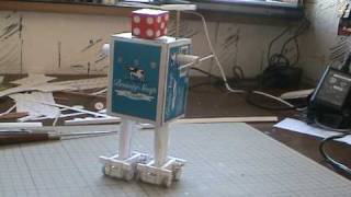 Paper Robot First step (Paper Craft Automata)