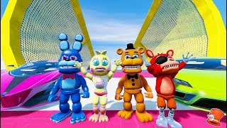 FNAF WORLD ANIMATRONICS STUNT ON WORLD