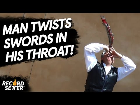 Man Swallows Swords And Twi
