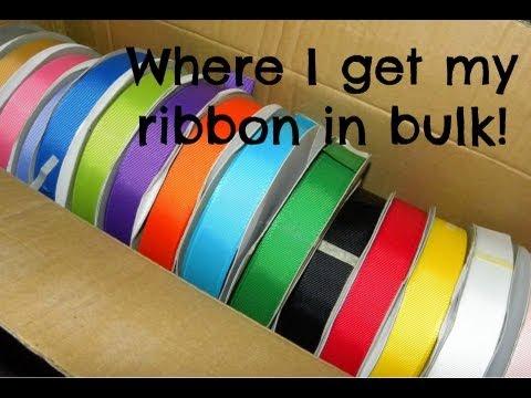 Where I Buy my Ribbon in Bulk!
