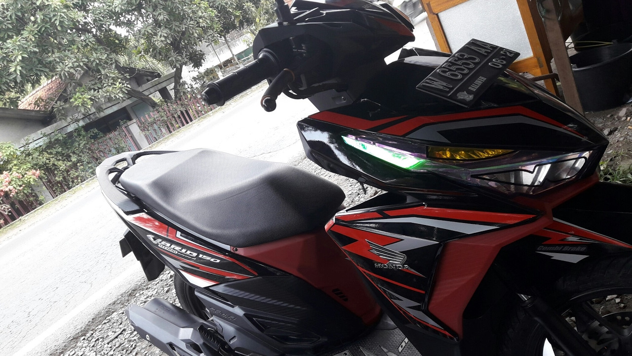 Modif vario 150 pakai cating stiker manual youtube