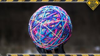 Snapping a GIANT Rubber Band Ball