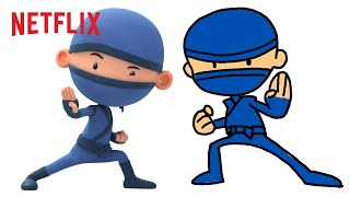 Draw Hello Ninja with Me!   Netflix Jr