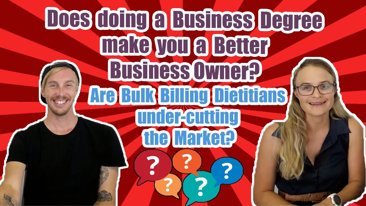 Dear Dietitian Does Doing A Business Degree Make You A Better