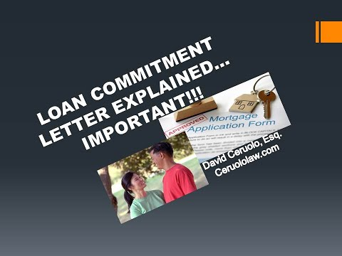 Commitment Letter Defined: What Is A Loan Commitment Letter?