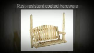 Rustic Natural Cedar Garden Cedar Porch Swing - 26a, 27a