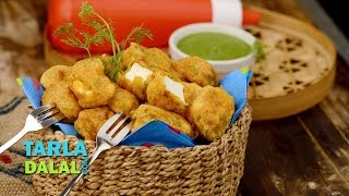 Paneer Pakoda, Punjabi Paneer Pakora Recipe by Tarla Dalal
