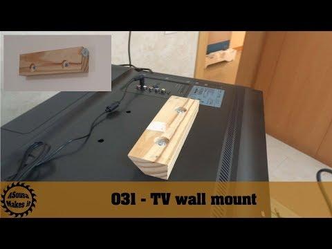 Super easy DIY TV wall mount