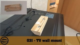 Super easy DIY TV wall mount