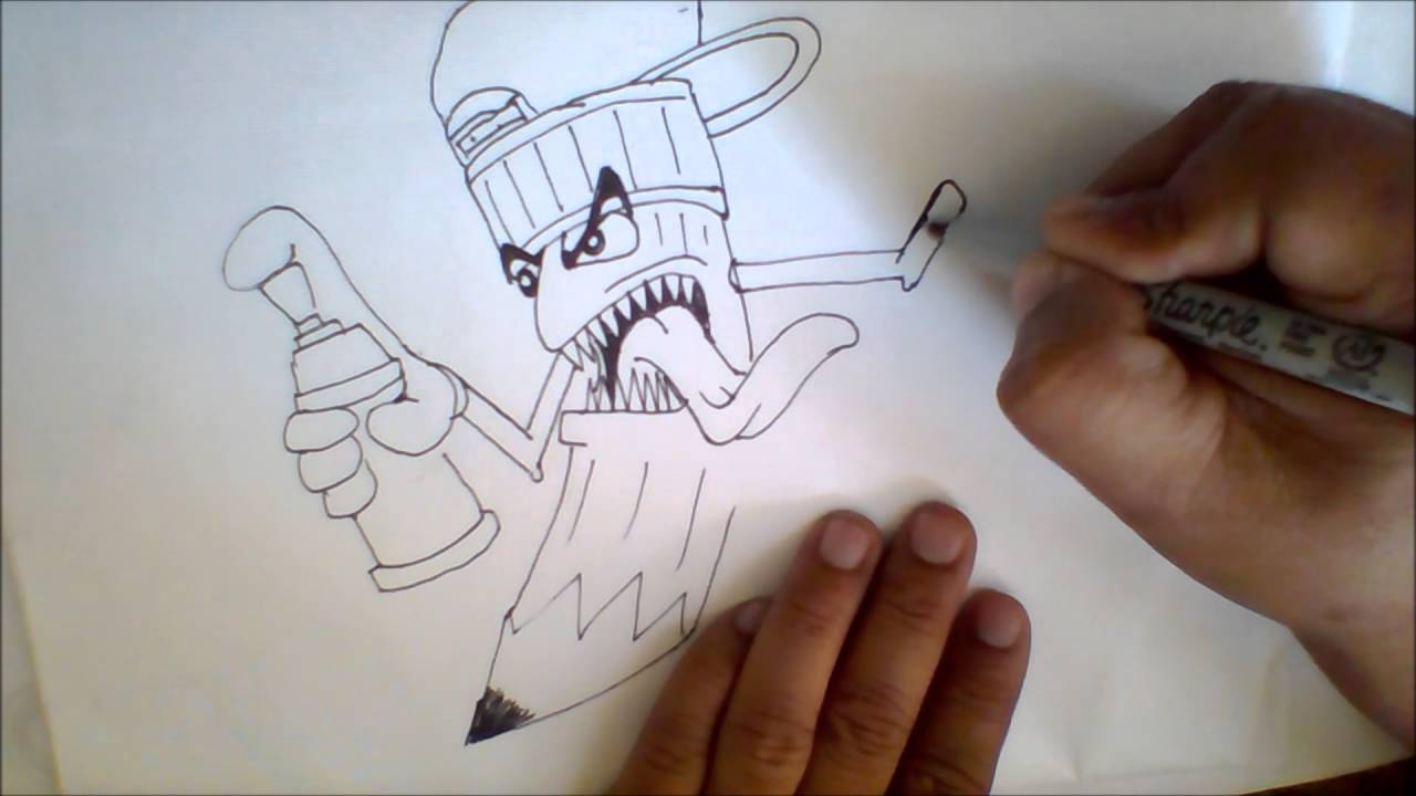 how to draw a pencil with a spray can holding youtube