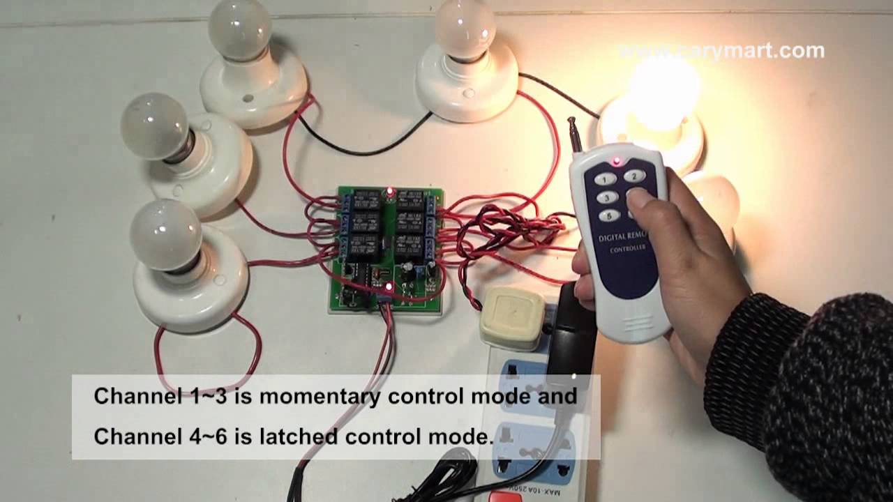 Toggle Momentary Latched Mode To Remote Control Several Lights The Wireless Equipment Has Two Modes