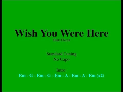 Wish You Were Here - Easy Guitar (Chords and Lyrics) - YouTube