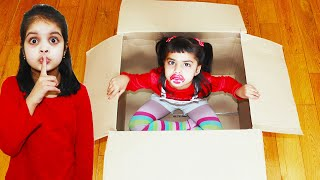 My Little Sister Ashu hiding in the Box