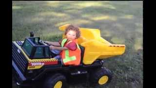 Tonka Ride On Mighty Dump Truck for kids: Unboxing, Review, and Riding