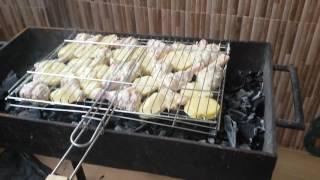 кабаб из курицы на мангале