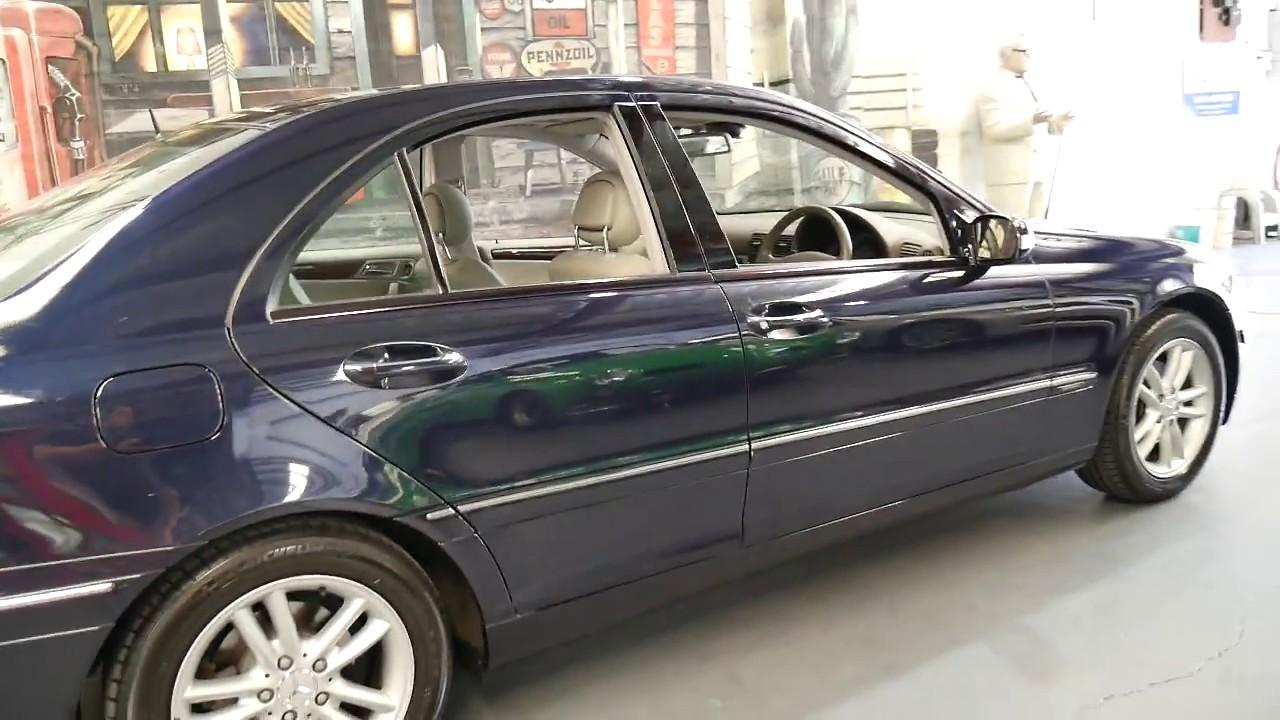 2003 Mercedes Benz C180 Kompressor In Dark Blue Youtube