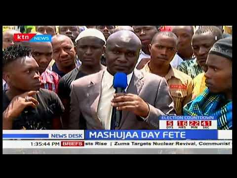 NASA leader Raila Odinga attends mass burial for victims of anti-IEBC demos: News Desk