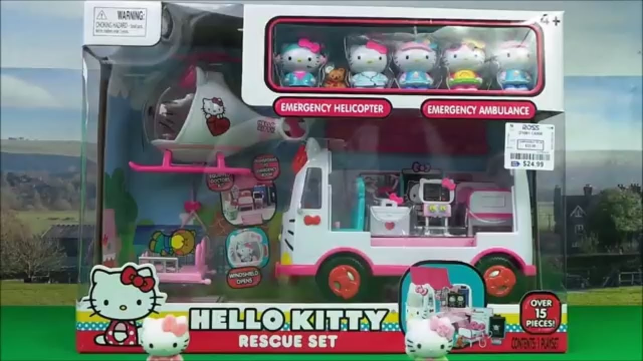 a71bfd9afcad NEW Hello Kitty RESCUE SET with Helicopter and Ambulance  hellokitty ...