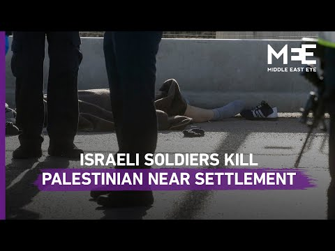 Israeli Soldiers Kill Young Palestinian Near West Bank Settlement
