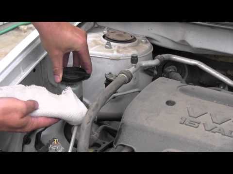 2008 Toyota Corolla Steering Fluid Inspection