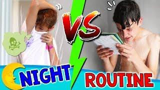 ¡¡NIGHT ROUTINE de MATEO vs RUTINA de NOCHE de HUGO!! ? ¿Cuál es la Crazy ROUTINE más LOCA?