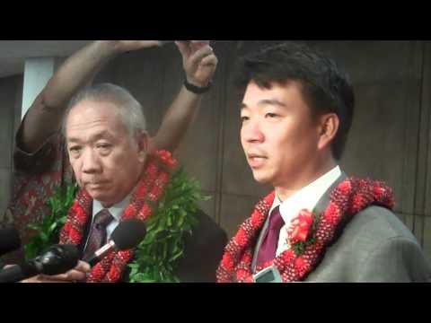 House Speaker Calvin Say & Senate President Shan Tsutsui on 2011 State of the State Address