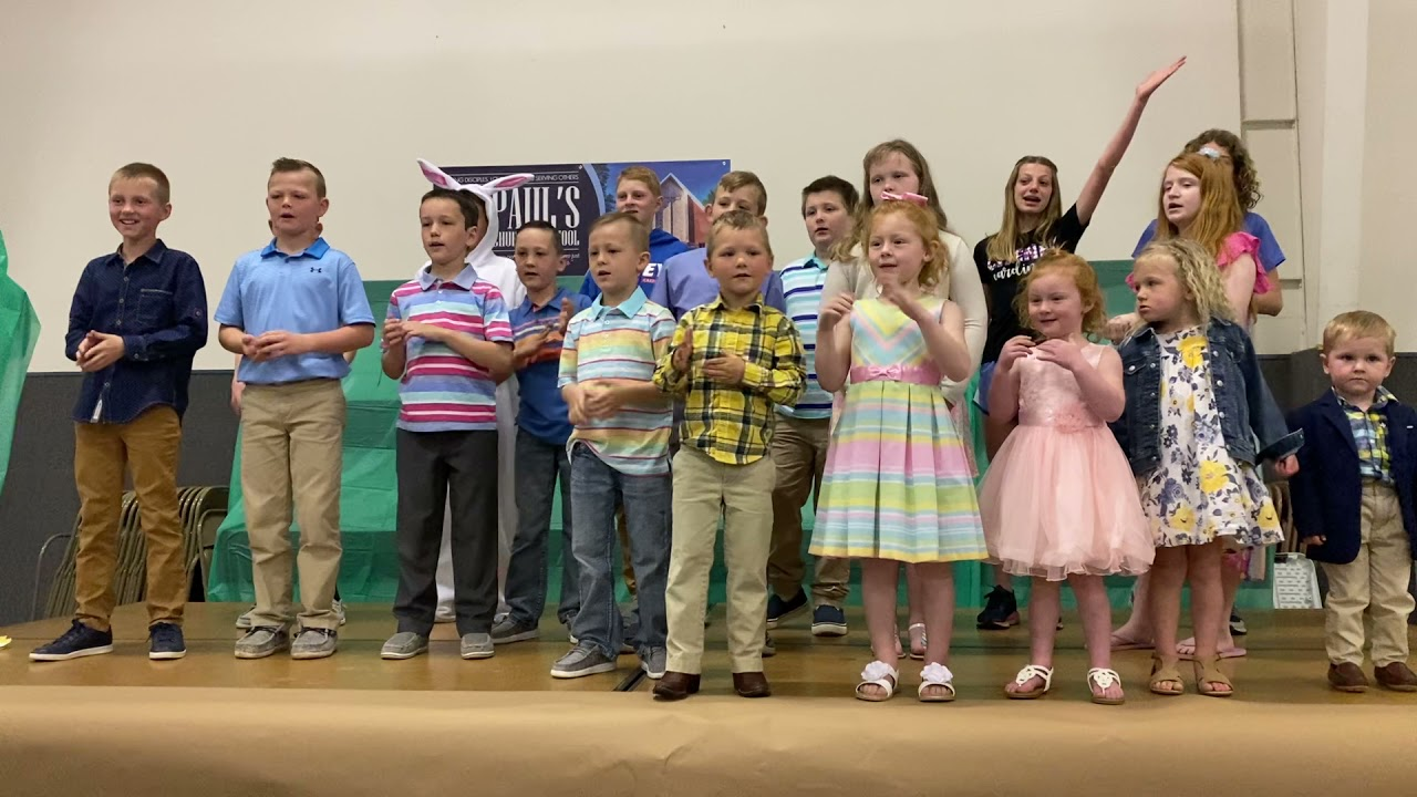 Easter Sunday SS kids singing 4/4/2021
