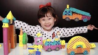 라임이의 오르다 아트판타지 자석 블록 가베 에듀 장난감 만들기 놀이 Lime & Toys 라임튜브