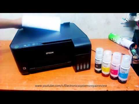 Epson L3110 Printer Ink Refill And Print Test