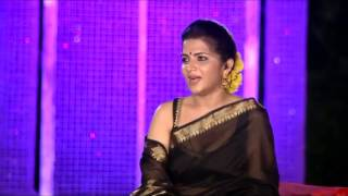 Anchor Dhivyadharshini Dd Navel And Cleavage Show Transparent Saree