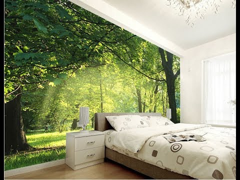 48D Wallpaper For Walls Designs YouTube Stunning 3D Design Bedroom