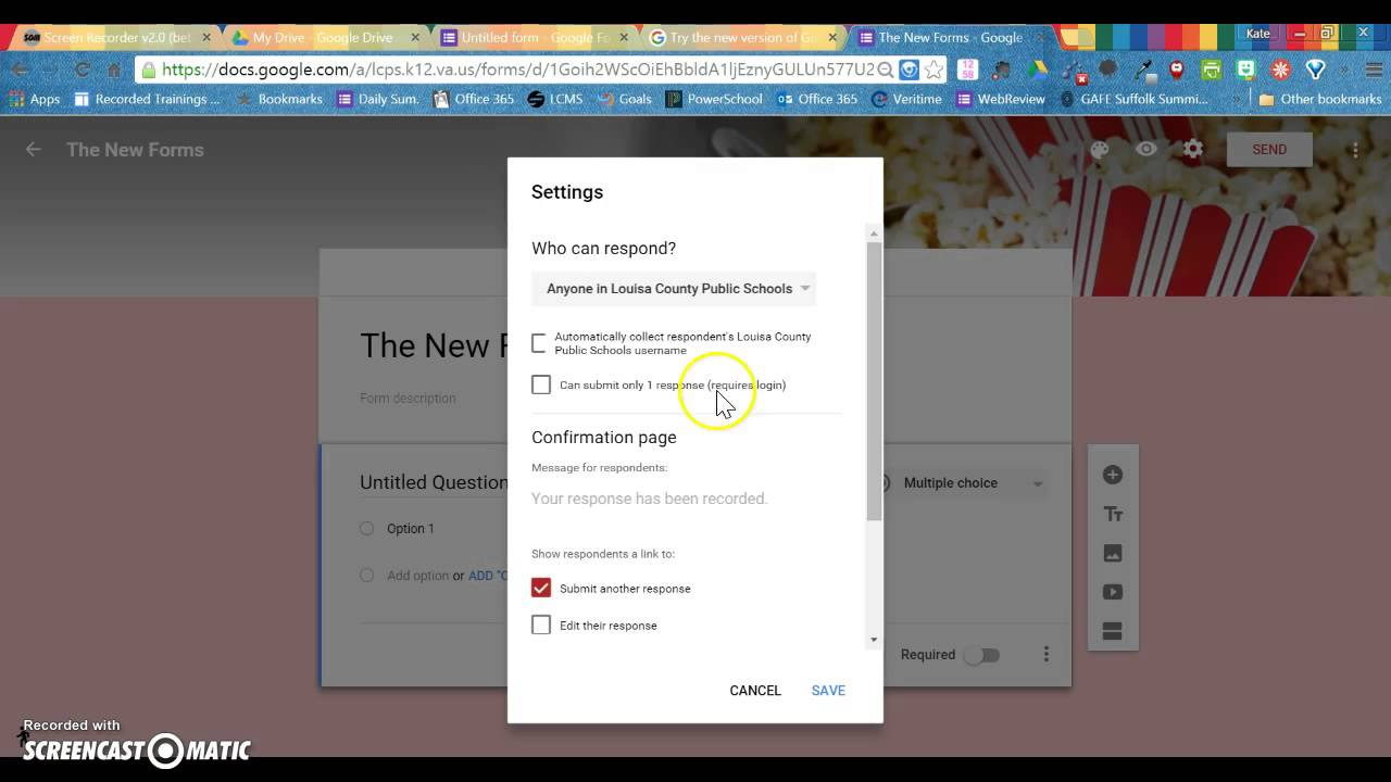 The New Google Forms: The Layout - YouTube