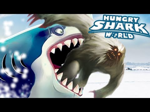 ROBOT SHARK EATS THE YETI!!! - Hungry Shark World | Ep 68 HD