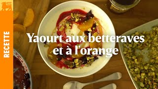 Yaourt aux betteraves et à l'orange