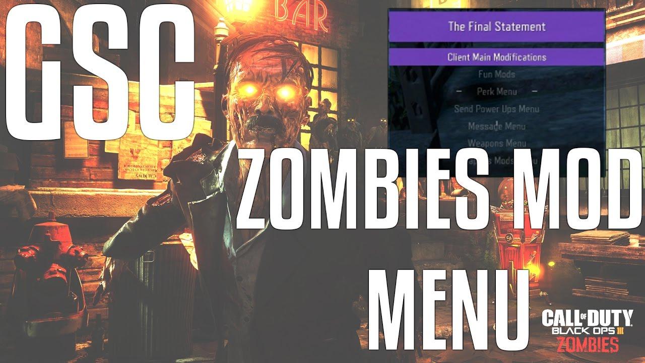 GSC Zombies Mod: The Final Statement mod menu for Black Ops 3 PC (READ THE  DESCRIPTION!!!!!)