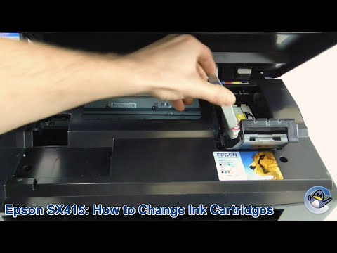 Epson Stylus SX415: How To Change/Replace Ink Cartridges