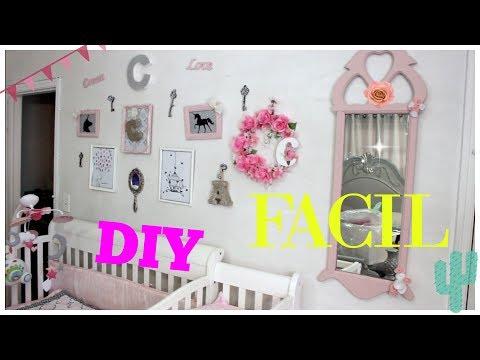 Como Decorar el Cuarto de una Niña sin Gastar Mucho DIY - YouTube