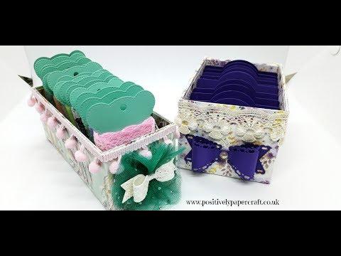 Easy Ribbon Storage Boxes!