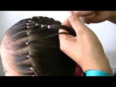 Peinados faciles de aser con ligas