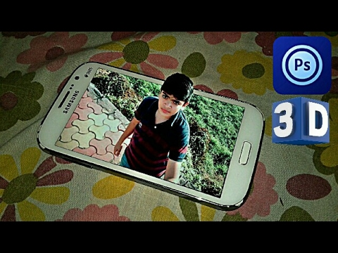 Make a 3d photo of yours using ps touch | ps touch link in the description