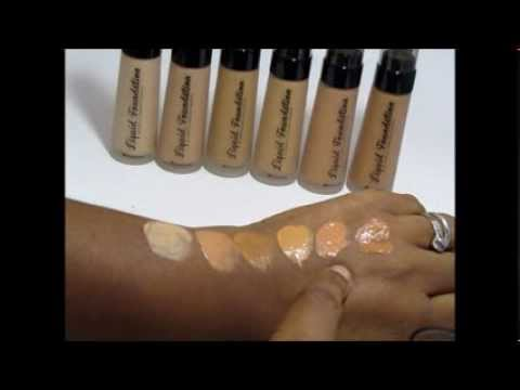 $3 BH COSMETICS FOUNDATION SWATCHES AND REVIEW - YouTube