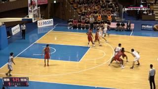関東大学バスケ新人戦2017決勝、東海大学vs日本大学
