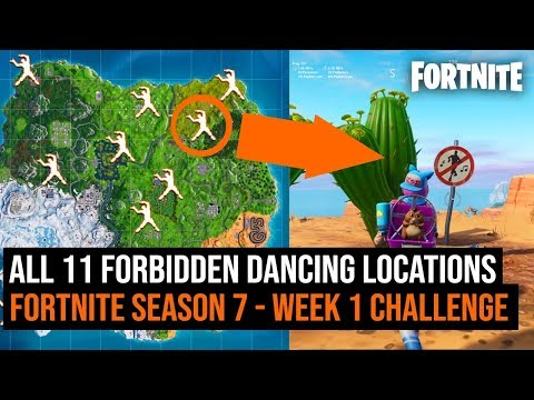 All 11 FORBIDDEN DANCING Locations In Fortnite: Battle Royale | Season 7 Week 1 Challenge