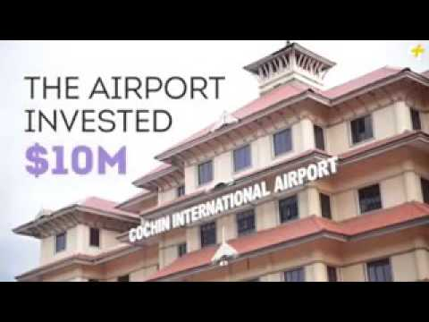 Cochin airport full of solar energy.worlds 1st.