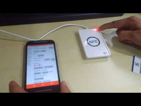 ACR 122U NFC Card Reader Connected With Android
