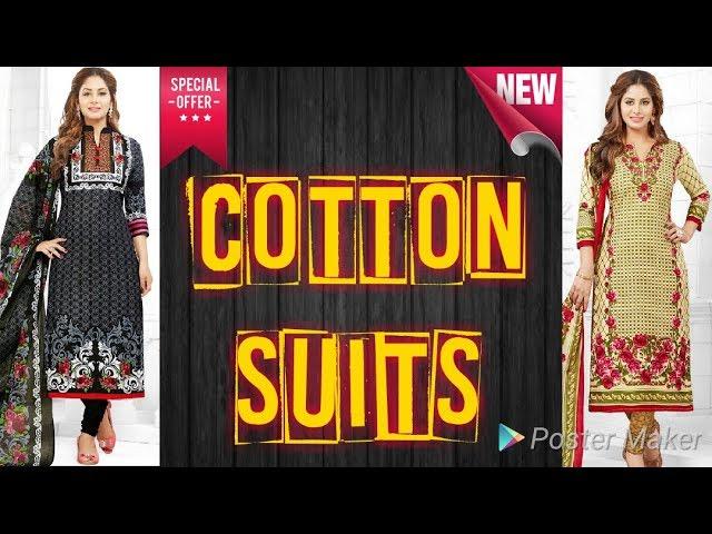 Latest Cotton Suits 2018