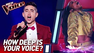 Download TOP 10 | Unbelievably LOW Voices in The Voice Mp3 and Videos